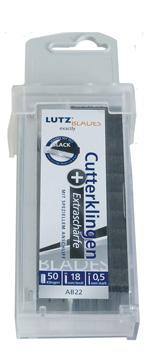 Lutz Abbrechklinge AB2-SZ, 18 mm, Schwarz, Sicherheitsspender (50 Stück)