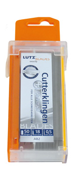 Lutz Abbrechklinge AB2-SZ, 18 mm, Standard, Sicherheitsspender (50 Stück)