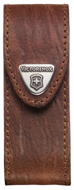 VICTORINOX Lederholster, braun, One Size, mit Klettverschluss